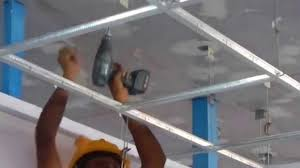 suspended ceiling installation training youtube