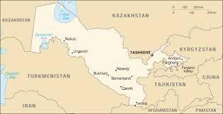 uzbekistan map in world of uzbekistan