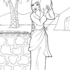 bible story coloring pages woman at the well archives mente beta