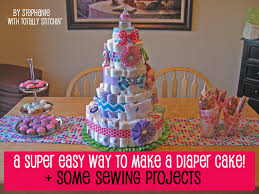 easy diaper cake tutorial some sewing totally stitchin