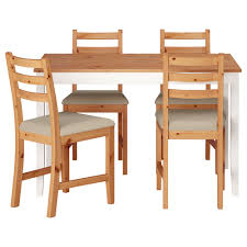 Dining Room Sets 4 Chairs Lerhamn Table And 4 Chairs Light Antique Stain Ramna Beige 118x74