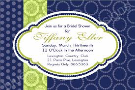 luncheon invitation preppy bridal luncheon invitation lime and navy