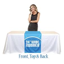 24 wide table runners table runner 24 full color 3 sided anything display