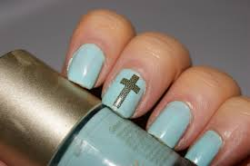 nail designs cross beautify themselves with sweet nails