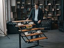 table converts to shelf this dining table can transform into shelves in seconds business