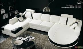 Black And White Sectional Sofa White Leather Sectional Sofa With Chaise Casa Black And