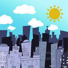 backdrop city 2018 white clouds blue sky city buildings kids backdrop