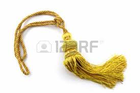 Gold Curtain Tassels Yellow Curtain Tassel Interior Decoration On White Background
