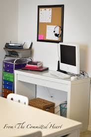 Malm Computer Desk Homeschool Room From The Committed Heart