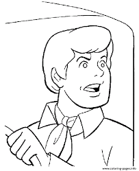 shocking fred scooby doo 88e4 coloring pages printable