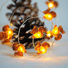 Outdoor Christmas Decorations Battery Operated Lights by Amazon Com Christmas Lights Impress Life Squirrel Decorative