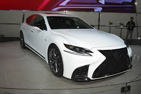 lexus ls 500 coupe 2018 lexus ls 500 f sport debuts in new york myautoworld com