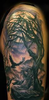 tree half sleeve tattoos creativefan
