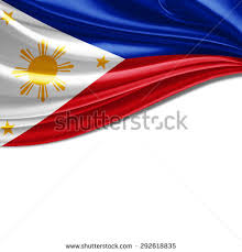 philippines flag silk copyspace your text stock illustration