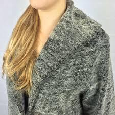 vintage long persian lamb fur coat grey sheepskin retruly