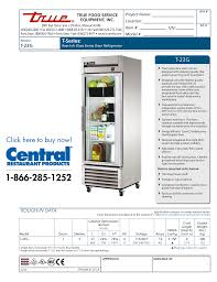 download free pdf for true t 23g refrigerator manual