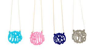 monogram necklace acrylic acrylic monogram necklace necklace