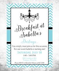 adoption party invitations printable breakfast at tiffany u0027s birthday party invitation
