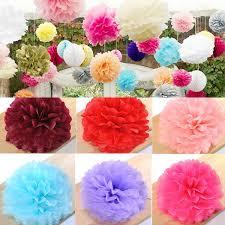 flower balls tissue paper pom poms flower balls wedding party baby shower decor