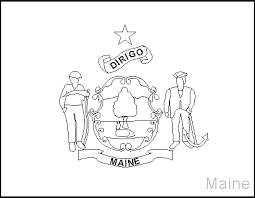 coloring maine u0027s flag coloring