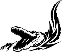 tribal reptile swimming in water tattoo design tattooimages biz