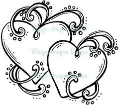 drawn hearts angel pencil and in color drawn pin wings