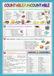 Exercises Count And Non Count Nouns Exercises Countable And Uncountable Nouns