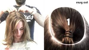comment se couper les cheveux soi meme comment couper ses cheveux en carre plongeant en 5mn pro