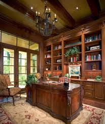 sater wood beam chandelier home office traditional with red floral rug
