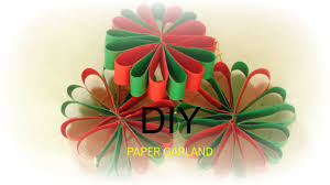 paper craft how to make paper flower garland wall hanging easy