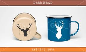 coffee cup silhouette png deer head silhouette vector illustratio design bundles