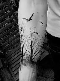 13 forearm forest tattoos