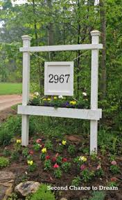 Outdoor Decorative Signs Build A House Number Sign With Planter Box Second Chance To
