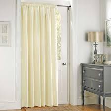 Door Curtains Toledo Thermal Pencil Pleat Door Curtain Dunelm