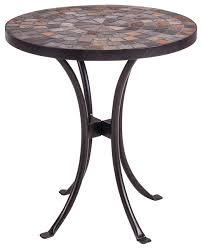 Wrought Iron Accent Table Collection In Mosaic Accent Table Handmade Mosaic And Iron Accent