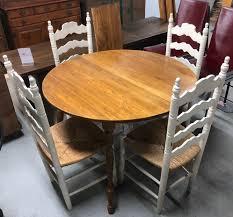round country wood dining room table w 4 chairs u0026 leaf gideon u0027s