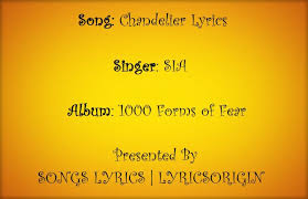 Sia Chandelier Text Chandelier Sia Music Letter Notation With Lyrics For Flute
