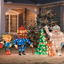Exterior Christmas Decorations Rudolph And Friends Outdoor Christmas Decoration Improvements