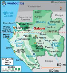 gabon in world map gabon map geography of gabon map of gabon worldatlas