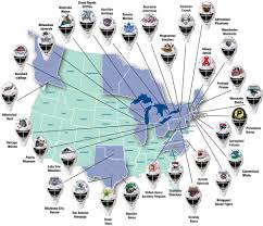 nba divisions map map of nhl arenas metro seattle nhl nba and arena part iii