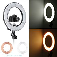 neewer led ring light neewer 14 led ring light kit dimmable ring light 79 light stand