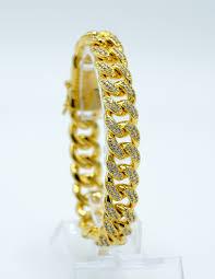 bracelet gold style images Buy men 39 s miami cuban bracelets golden hiralal jewelry jpg
