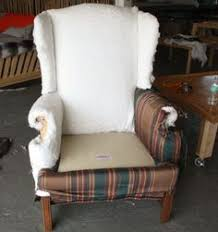 How To Reupholster A Side Chair Custom Reupholstered Channel Back Chair U0026 Ottoman Custom Sunburst