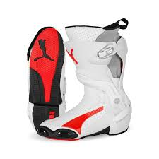 high motorcycle boots puma 1000 v3 vented ce motorcycle boot red white my style