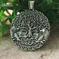 lanseis 1pcs two wolves sigil commissioned celt wolf pendant two