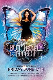 butterfly effect free flyer template for photoshop