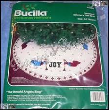 bucilla tree skirt kit 12 days of felt embroidery crewel