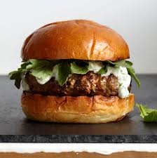 how to make lamb burgers with tzatziki and arugula