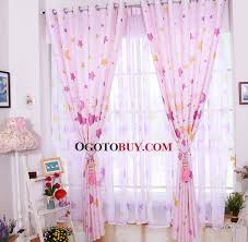 Curtains Printed Designs Lovely And Sweet Pink Kids Curtains Printed With Stars And Moon
