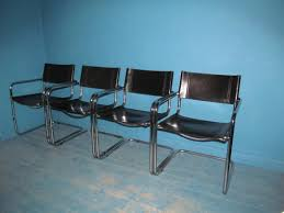 1960s charles eames leather u0026 chrome chairs sold